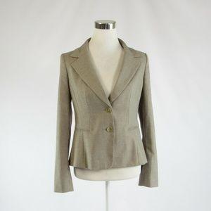 Ann Taylor khaki long sleeve blazer jacket 4